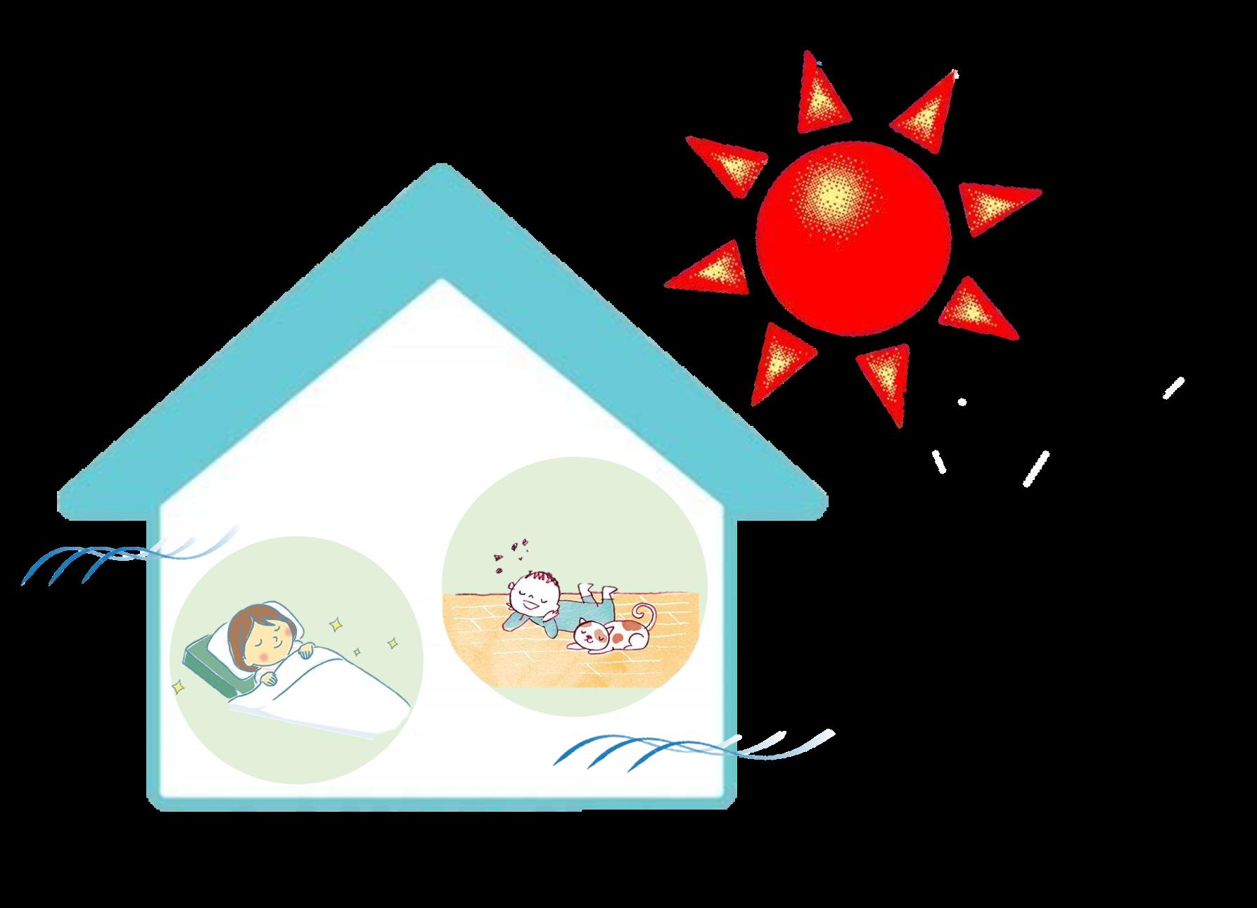 『夏 涼しくて快適な家』を建てるには